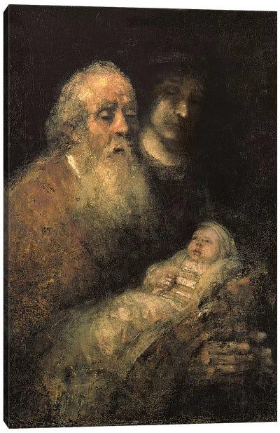 Simeon in the Temple, 1669  Canvas Art Print