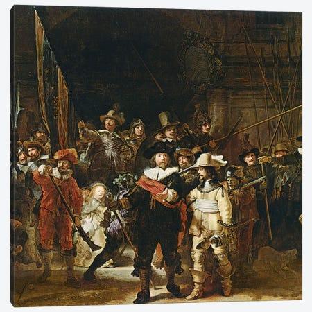The Nightwatch, 1642  Canvas Print #BMN10994} by Rembrandt van Rijn Canvas Art