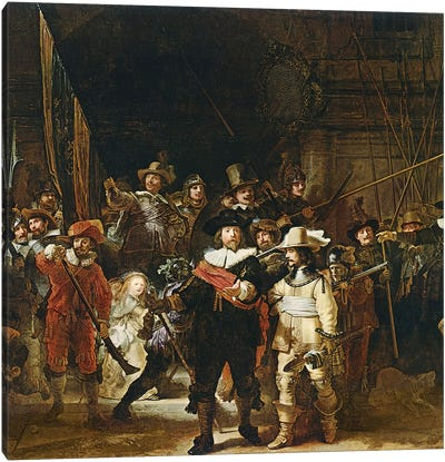 The Nightwatch, 1642  Canvas Art Print