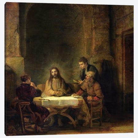 The Supper at Emmaus, 1648  Canvas Print #BMN10995} by Rembrandt van Rijn Canvas Art