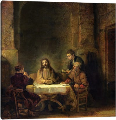 The Supper at Emmaus, 1648  Canvas Art Print