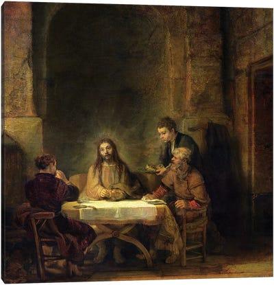 The Supper at Emmaus, 1648  Canvas Art Print