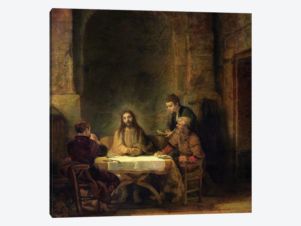The Supper at Emmaus, 1648  by Rembrandt van Rijn 1-piece Canvas Artwork
