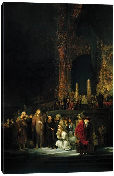 The Woman taken in Adultery, 1644  Canvas Art Print
