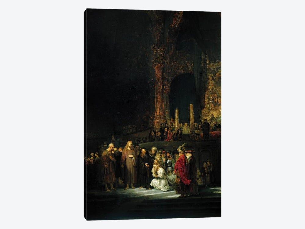 The Woman taken in Adultery, 1644  by Rembrandt van Rijn 1-piece Art Print