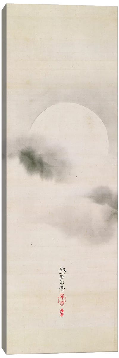 Hanging Scroll Depicting The Autumnal Moon Canvas Art Print