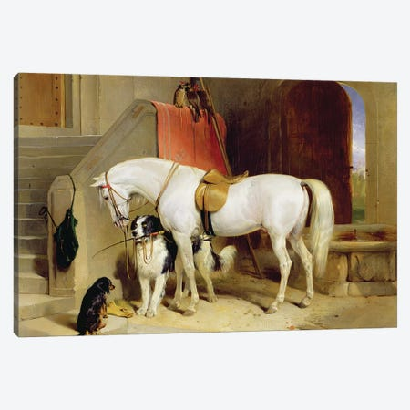 Prince George's Favourites  Canvas Print #BMN11002} by Sir Edwin Landseer Canvas Wall Art