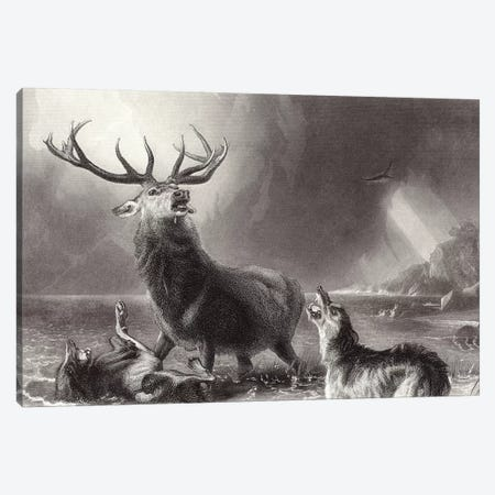 The Stag at Bay  Canvas Print #BMN11008} by Sir Edwin Landseer Canvas Wall Art