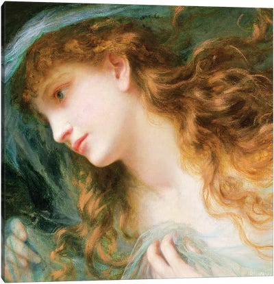 Head of a Nymph  Canvas Art Print