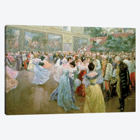 Court Ball at the Hofburg, 1900  Canvas Print #BMN11026} by Wilhelm Gause Canvas Art Print