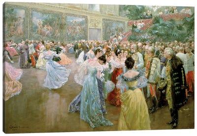 Court Ball at the Hofburg, 1900  Canvas Art Print