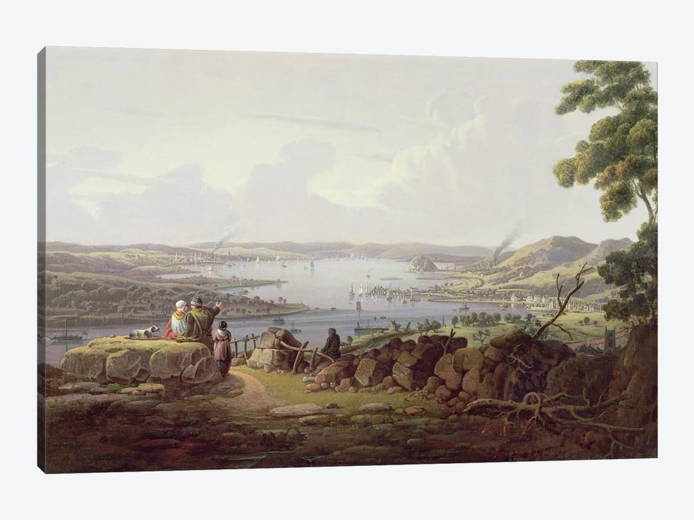 View of Greenock, Scotland by Robert Salmon 1-piece Canvas Artwork
