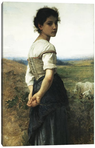 The Young Shepherdess, 1885  Canvas Art Print