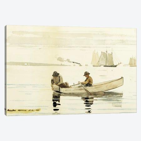 Boys Fishing, Gloucester Harbor, 1880  Canvas Print #BMN11036} by Winslow Homer Canvas Artwork