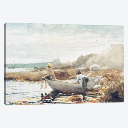 Boys on the Beach  Canvas Print #BMN11037} by Winslow Homer Canvas Art