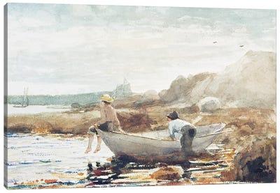 Boys on the Beach  Canvas Art Print