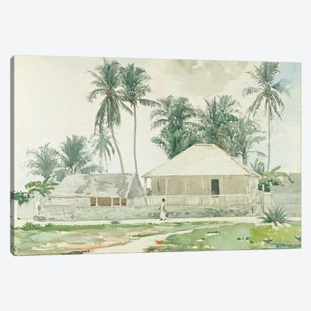Cabins, Nassau, 1885  Canvas Print #BMN11038} by Winslow Homer Art Print