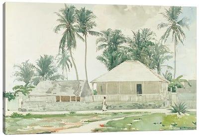 Cabins, Nassau, 1885  Canvas Art Print