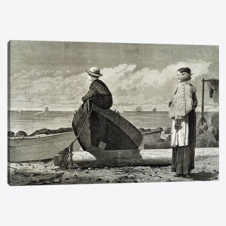Dad's Coming, 1873  Canvas Print #BMN11040} by Winslow Homer Canvas Art