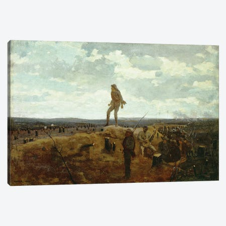 Defiance: Inviting a Shot Before Petersburg, 1864  Canvas Print #BMN11041} by Winslow Homer Canvas Wall Art