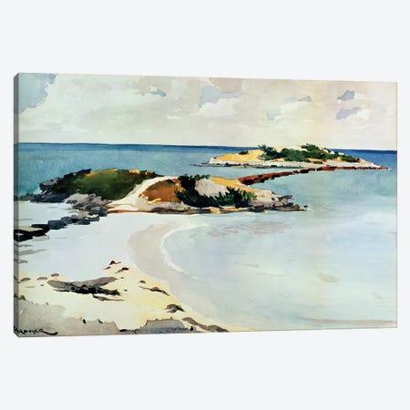 Gallows Island Canvas Print #BMN11043} by Winslow Homer Canvas Artwork