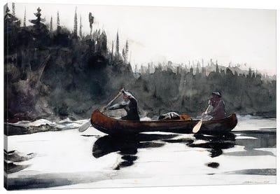 Guides Shooting Rapids, 1895  Canvas Art Print