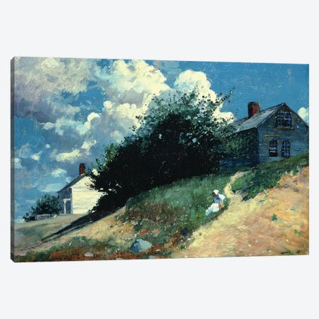 Houses on a Hill, 1879  Canvas Print #BMN11047} by Winslow Homer Canvas Art Print