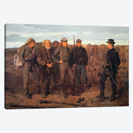 Prisoners from the Front, 1866  Canvas Print #BMN11049} by Winslow Homer Canvas Wall Art