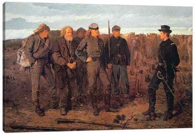 Prisoners from the Front, 1866  Canvas Art Print