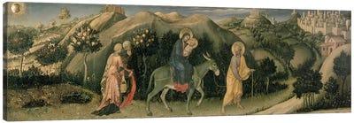 Adoration of the Magi Altarpiece; central predella panel depicting The Flight into Egypt, 1423  Canvas Print #BMN1104