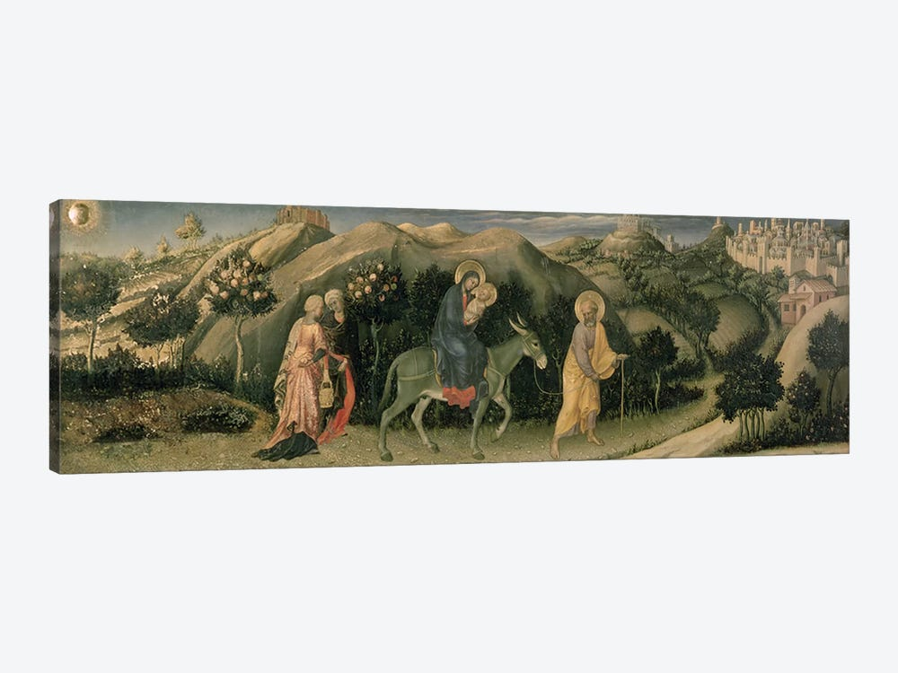 Adoration of the Magi Altarpiece; central predella panel depicting The Flight into Egypt, 1423 by Gentile da Fabriano 1-piece Canvas Wall Art