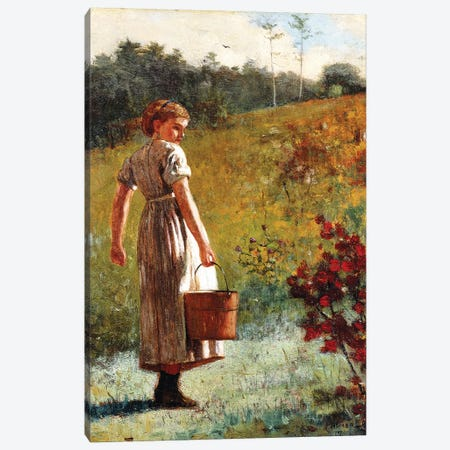 Returning from the Sping, 1874  Canvas Print #BMN11051} by Winslow Homer Canvas Art Print