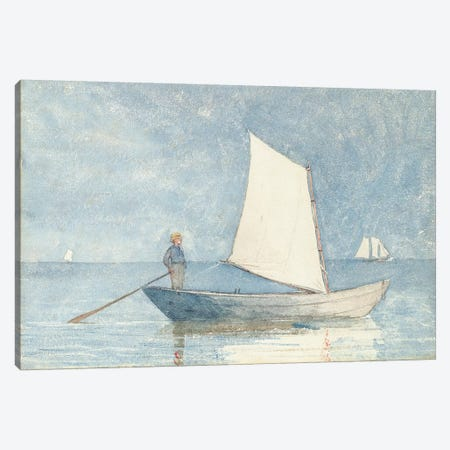 Sailing a Dory, 1880  Canvas Print #BMN11054} by Winslow Homer Canvas Art