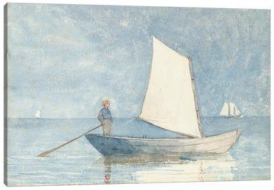 Sailing a Dory, 1880  Canvas Art Print