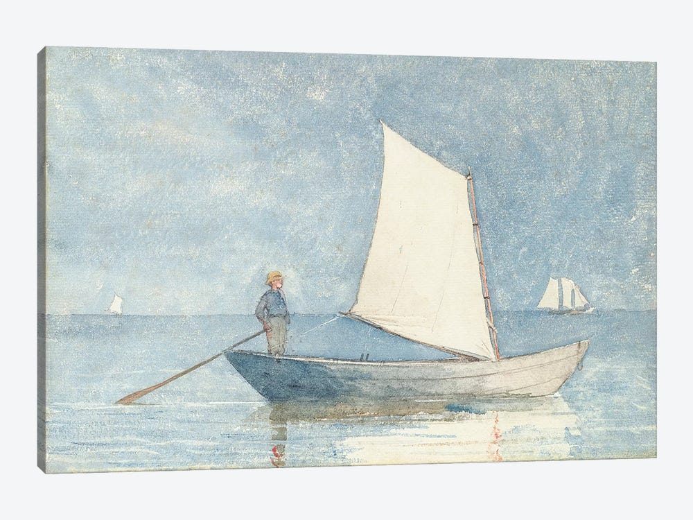 Sailing a Dory, 1880  by Winslow Homer 1-piece Canvas Print
