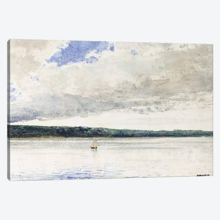 Small Sloop, 1880  Canvas Print #BMN11056} by Winslow Homer Canvas Wall Art