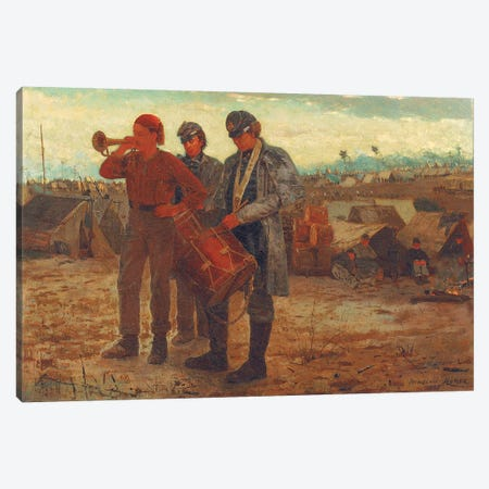 Sounding Reveille, 1865  Canvas Print #BMN11057} by Winslow Homer Canvas Artwork