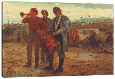 Sounding Reveille, 1865  Canvas Art Print