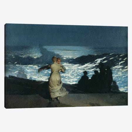 Summer Night, 1890  Canvas Print #BMN11060} by Winslow Homer Canvas Artwork