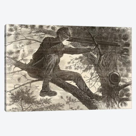 The Army of the Potomac, A Sharp-Shooter on Picket Duty Canvas Print #BMN11061} by Winslow Homer Canvas Art
