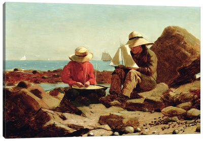 The Boat Builders, 1873  Canvas Art Print