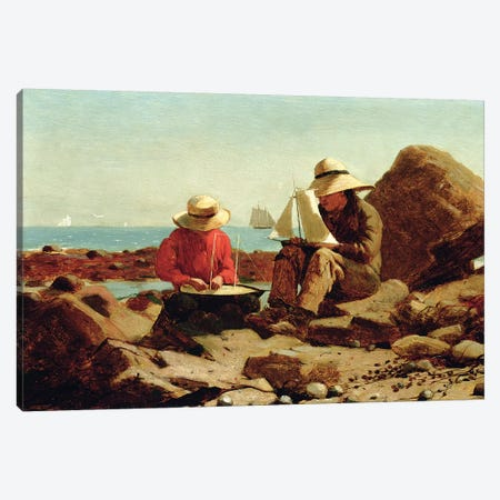 The Boat Builders, 1873  Canvas Print #BMN11062} by Winslow Homer Canvas Art
