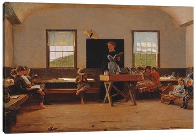 The Country School, 1871  Canvas Art Print