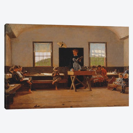 The Country School, 1871  Canvas Print #BMN11064} by Winslow Homer Canvas Art Print