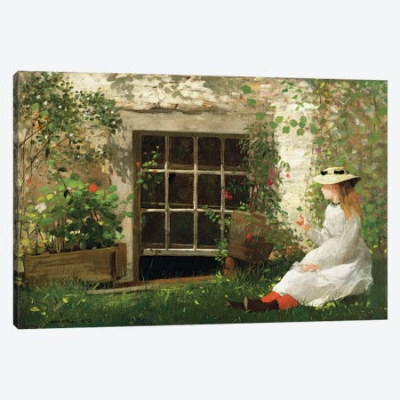 The Four Leaf Clover, 1873  Canvas Print #BMN11065} by Winslow Homer Canvas Print