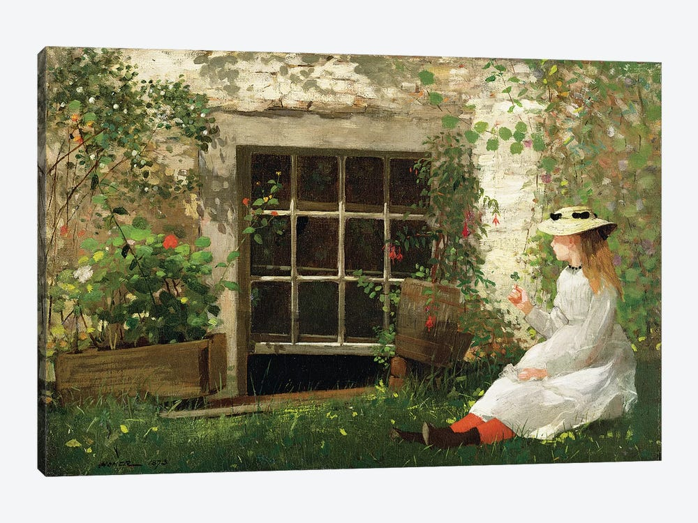 The Four Leaf Clover, 1873  by Winslow Homer 1-piece Canvas Print
