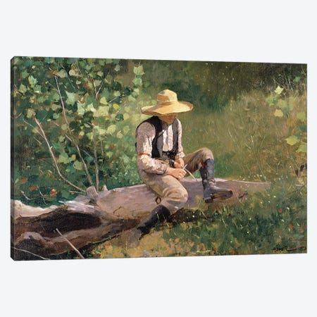 The Whittling Boy, 1873  Canvas Print #BMN11066} by Winslow Homer Canvas Print