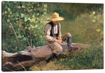 The Whittling Boy, 1873  Canvas Art Print