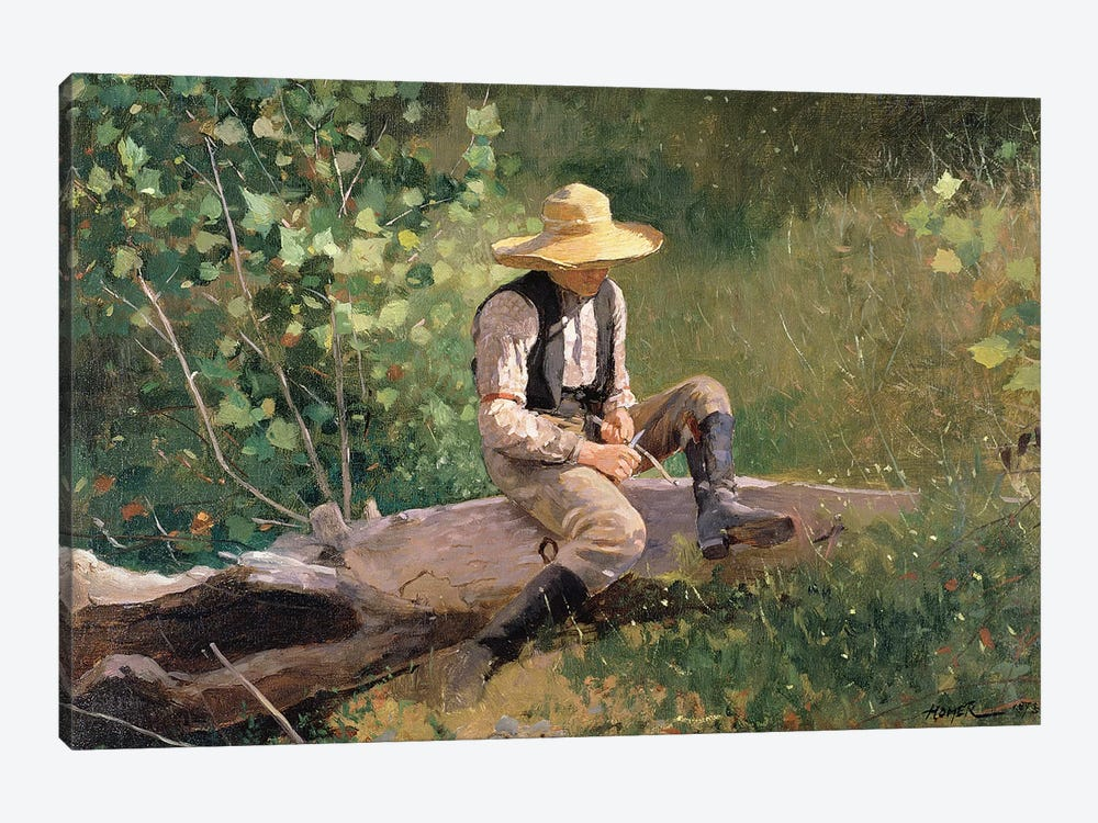 The Whittling Boy, 1873  by Winslow Homer 1-piece Canvas Wall Art