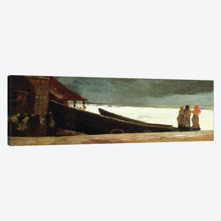Watching a Storm on the English Coast  Canvas Print #BMN11069} by Winslow Homer Canvas Wall Art